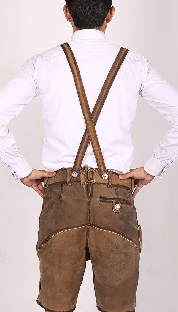 Trachten Short Lederhosen Real Shaded Brown 3