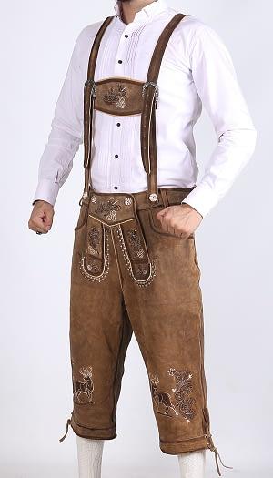 Bundhosen Knee Length Real Shaded Brown 2